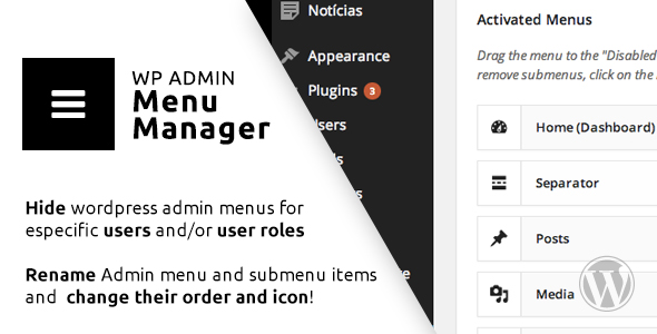 Download WP Admin Menu Manager nulled download