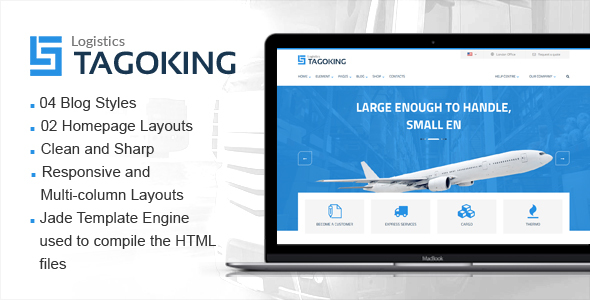Tagoking - Freight and Logistics HTML5 template