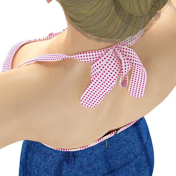 Denim Mini Dress - 3DOcean Item for Sale