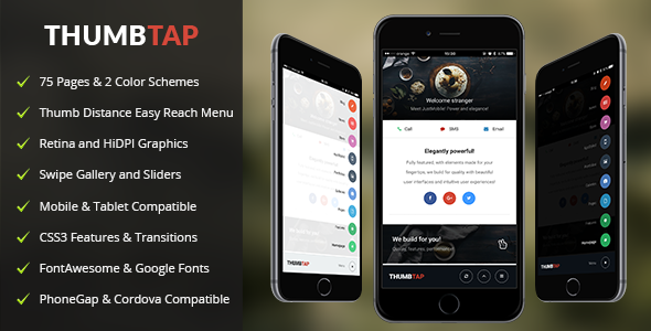 ThumbTap | Mobile & Tablet Responsive Template