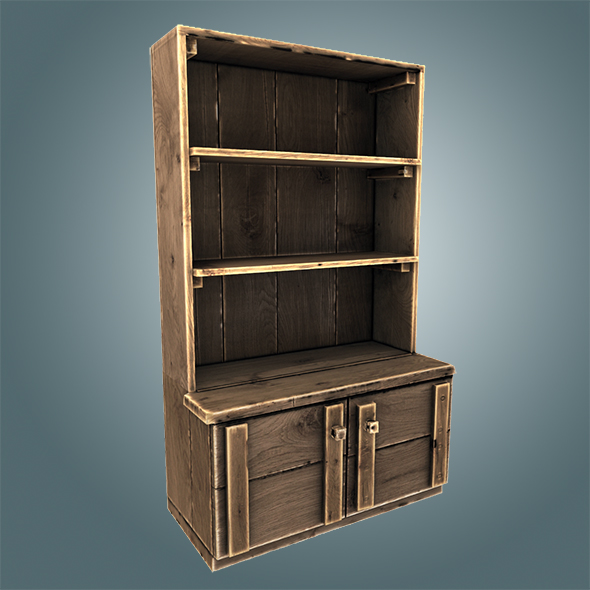 Old wooden cupboard - 3DOcean Item for Sale