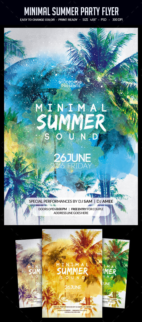 Minimal Summer Party Flyer