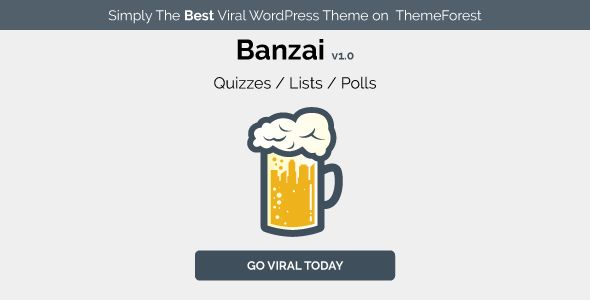 Download Banzai - Viral & Buzz WordPress Theme nulled download
