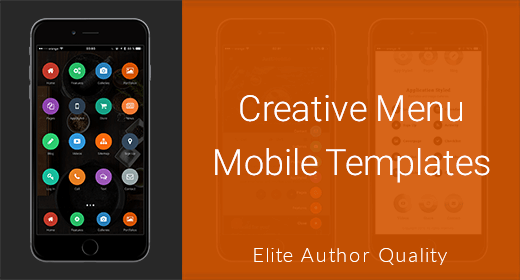Creative Menu Mobile Templates