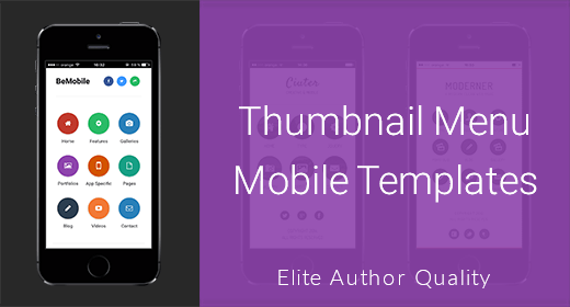 Thumbnail Menu Mobile Templates