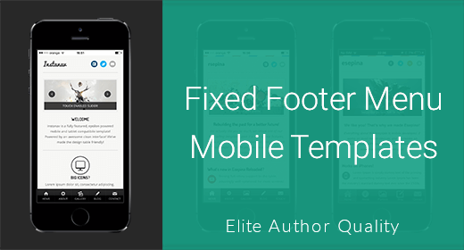 Footer Menu Mobile Templates