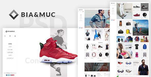 B&M - Responsive eCommerce PSD Template
