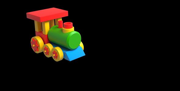 Lasten lelu Locomotive - Cartoons Taustat Motion Graphics