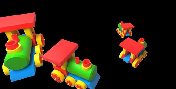 Lasten lelu junat - Cartoons Taustat Motion Graphics