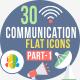 30 Communication & Connectivity Flat Iocns Part-1