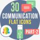 30 Communication & Connectivity Flat Iocns Part-2