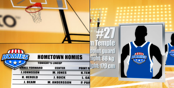 After Effects Project - VideoHive Basketball Team Lineup 1608394