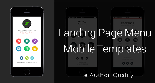 Landing Menu Mobile Templates
