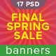 Final Spring Sale Banners