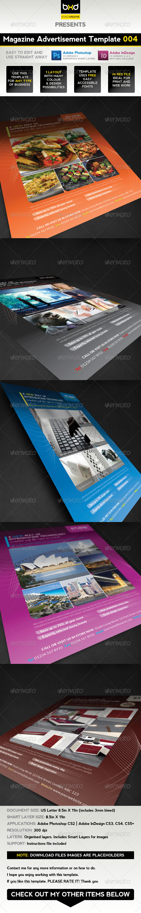 Magazine Advert Template 004 - Magazines Print Templates