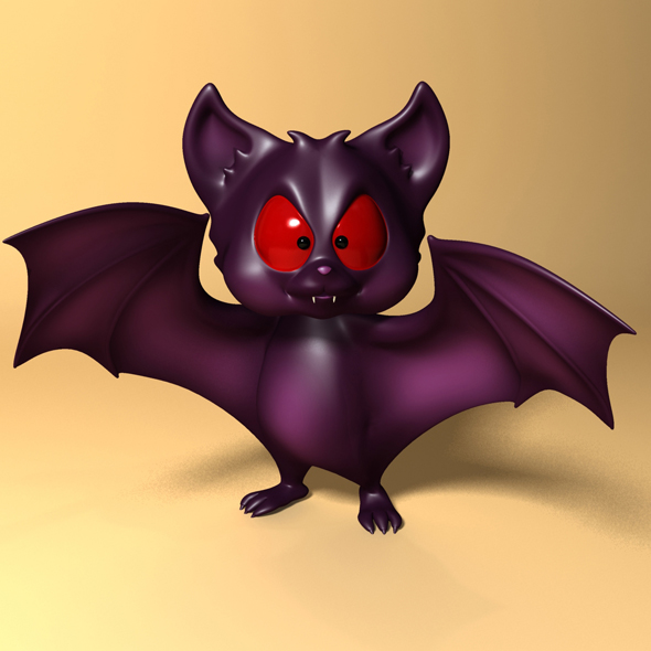 Cartoon Bat RIGGED and Animated - 3DOcean Item for Sale
