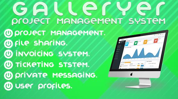 Download Galleryer Project Management System nulled download