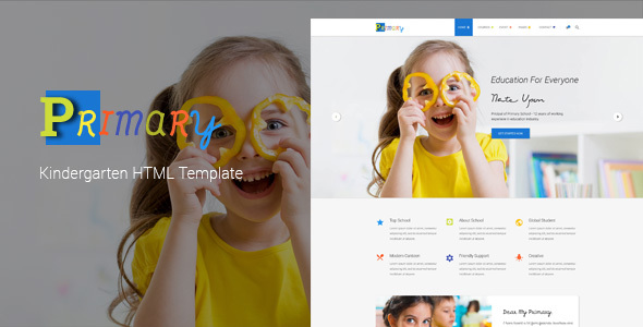 Primary – Kids & Kindergarten School HTML Template