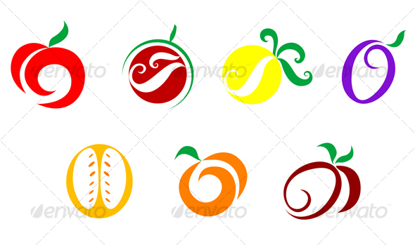 Fruits and vegetable icons - Food Objects