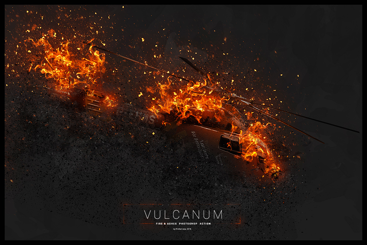 Vulcanum - Fire & Ashes Photoshop Action by profactions ...
