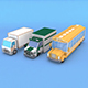 Low Poly Bus Truck Lorry
