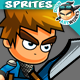 Knight 2D Game Character Sprites 203