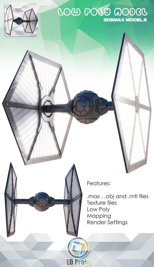 3DOcean First Order TIE Fighter Star Wars 16087908