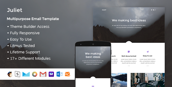 Juliet - Responsive Email + StampReady Builder