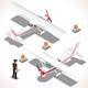 Ultralight Isometric Airplane