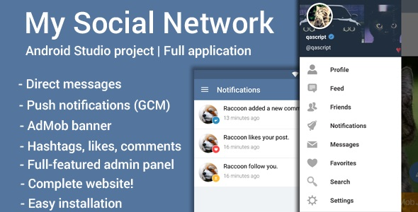Download My Social Network (App and Website) nulled download