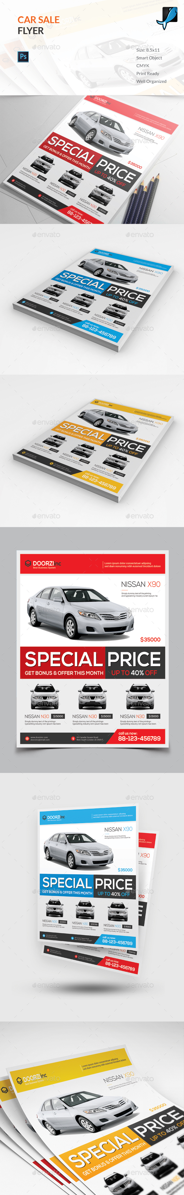Car Flyer Graphics Designs Templates from GraphicRiver – Car Sale Flyer