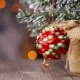 Christmas And New Year Decoration. Abstract Blurred Bokeh Holiday Background.