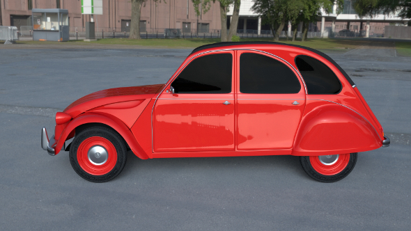 Citroen 2CV HDRI - 3DOcean Item for Sale