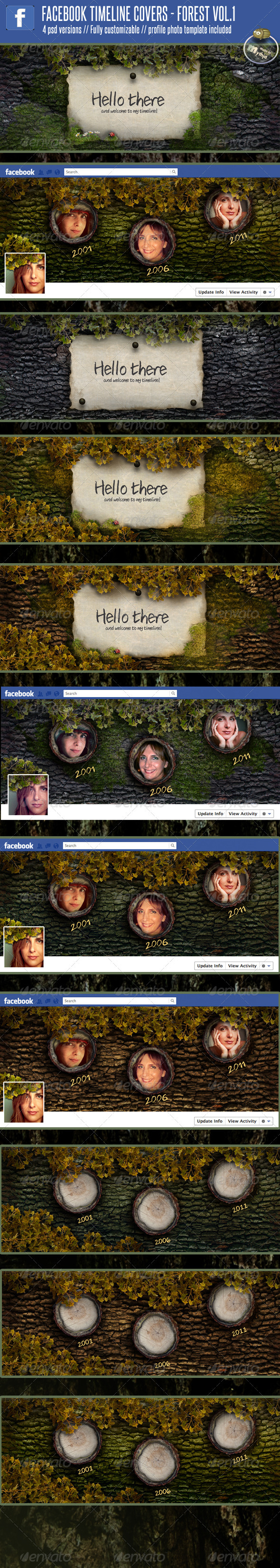 GraphicRiver 4 Facebook Timeline Covers Forest vol 1 1610995