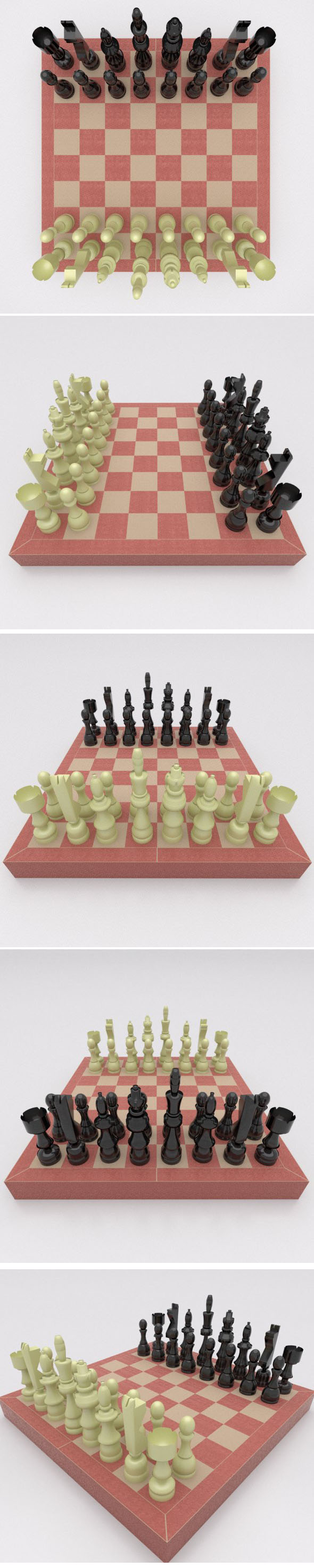 Chess game set - 3DOcean Item for Sale