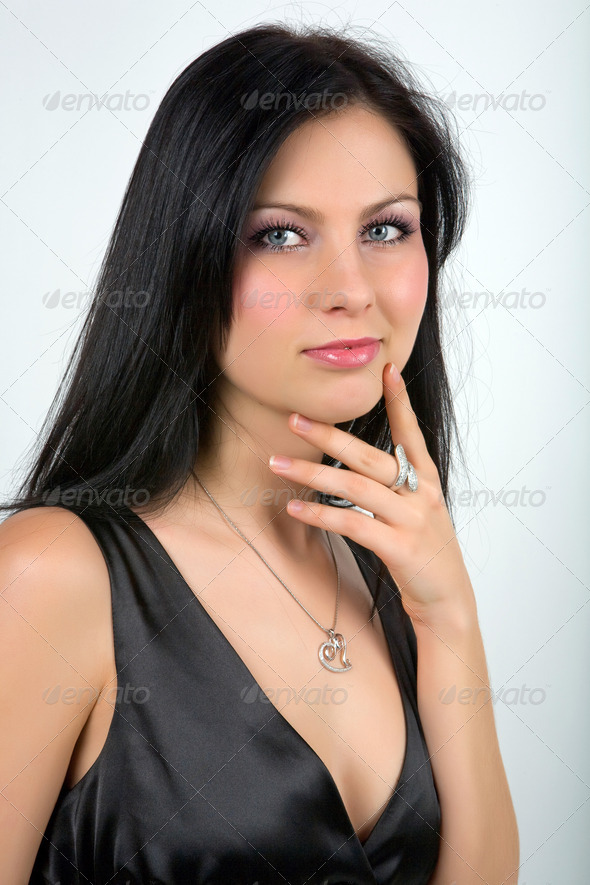 Sexy girl thinking  - Stock Photo - Images