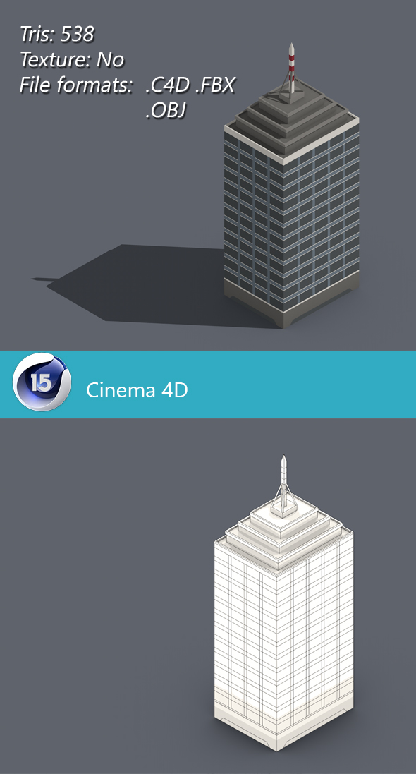 Low poly building 001 - 3DOcean Item for Sale