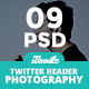 Photography Twitter Headers - 09 PSD