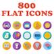 Set of 800 Flat Icons