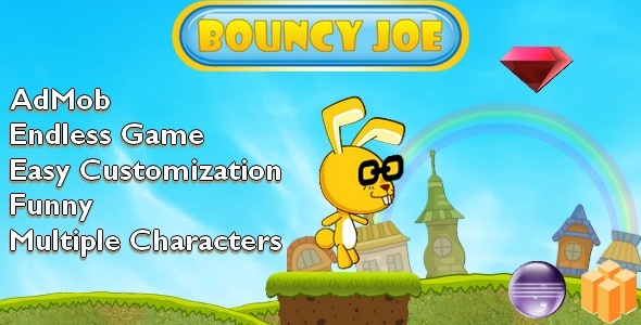 Bouncy Joe - Android Buildbox & Eclipse Game Template - CodeCanyon Item for Sale