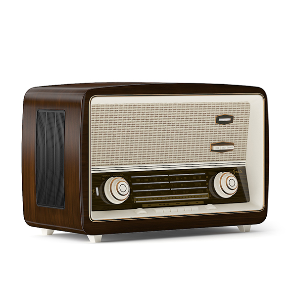 Antique Radio - 3DOcean Item for Sale