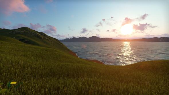 Laskeutuminen järven - Taustat Luonnosta Motion Graphics