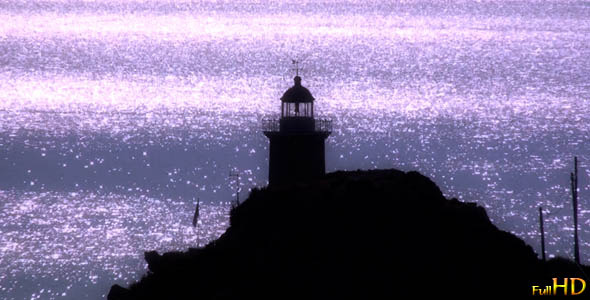 Lighthouse During Nightfall