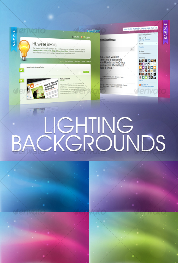 GraphicRiver Lighting Backgrounds 63090