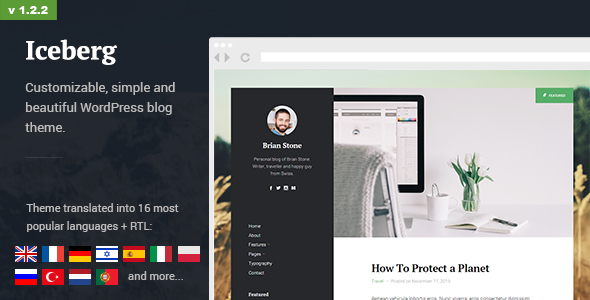 Download Iceberg - Simple & Minimal Personal Content-focused WordPress Blog Theme (RTL support) nulled download