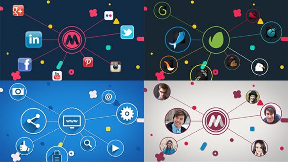 Yhteyden (Logo Paljasta) - Corporate Logo pistot After Effects Project Files