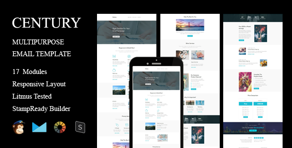 CENTURY - Multipurpose Responsive Email Template + Stampready Builder