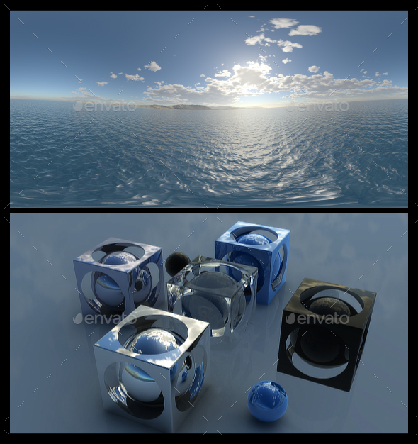 Coastal Clouds 3 - HDRI - 3DOcean Item for Sale