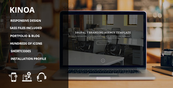 Image of Kinoa - Drupal 7 responsive theme