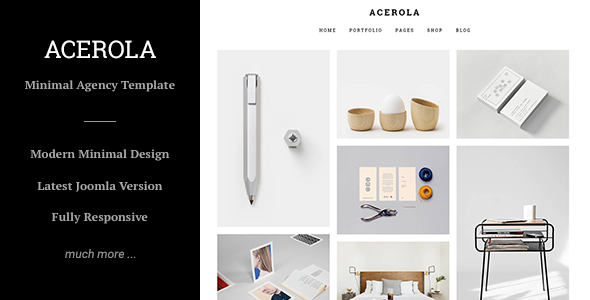 Image of Acerola - Ultra Minimalist Agency, Portfolio & Photography Joomla Template
